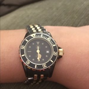 Vintage Tag Heuer black divers watch
